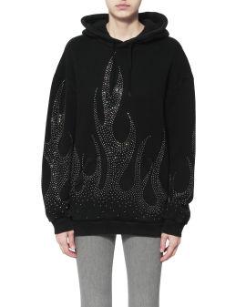 Lynch embellished hoodie