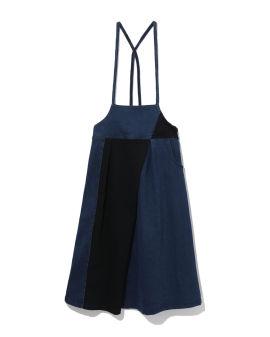 Panelled apron dress