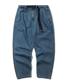 Snap buckle belt jeans