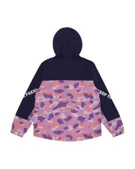 Colourblock camo zip jacket