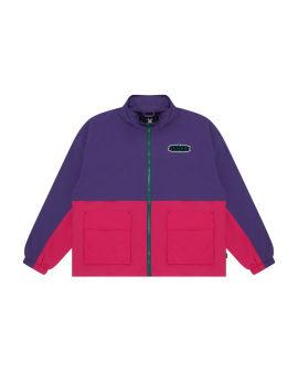 Colourblock zip jacket