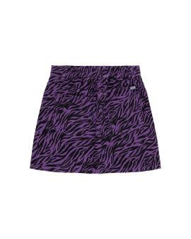 Zebra denim skirt