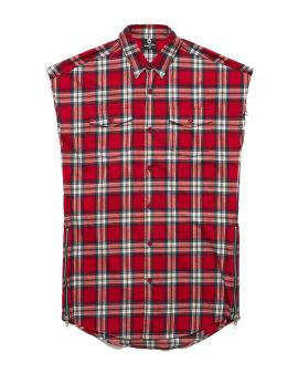 Check shirt vest