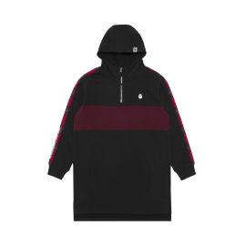 Bigfoot panelled quarter zip hoodie