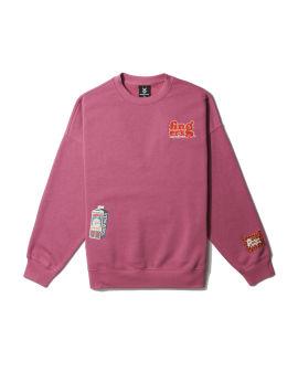 Graphic patch sweatshirt