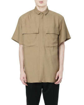 Short sleeve crepe shirt