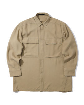 Crepe button-up shirt