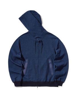 Drawstring zip hoodie