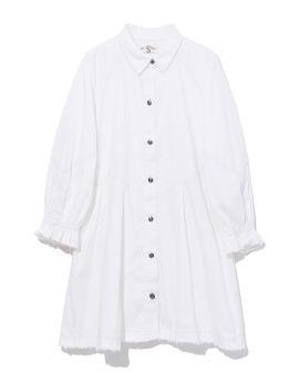 Flared denim dress