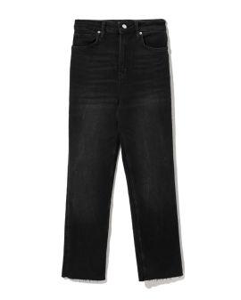 Vintage wash flared jeans