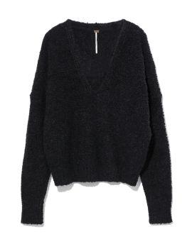 Fuzzy knit sweater