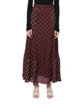 Patchwork tartan skirt