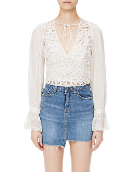 Lace embroidered top