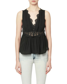 Lace embroidered vest