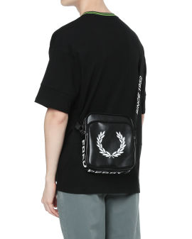 Logo print shoulder bag