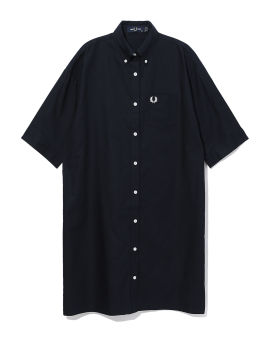 Split sleeve shirt dress
