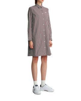 Checked shirt dress