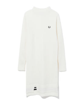 Logo knit dress