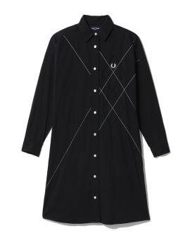 Argyle shirt dress