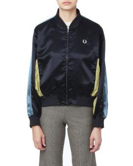 Panelled bomber jacket