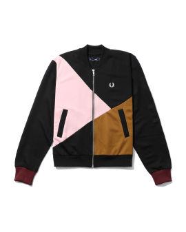 Colour block tennis bomber jacket