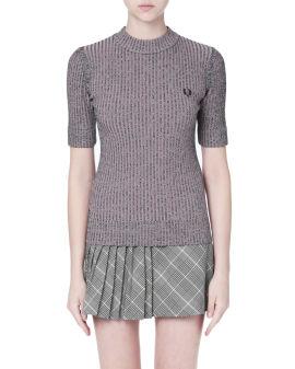 Space dye rib sweater