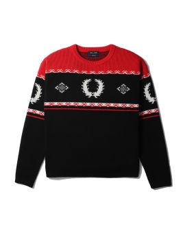Fair isle ski knitted sweater