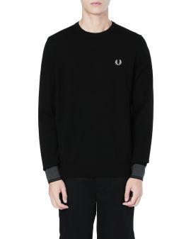 Contrast cuff knit sweater