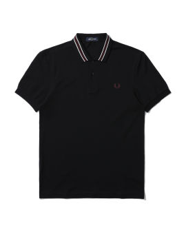 Tramline tipped polo shirt
