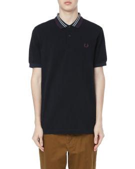 Stripe collar polo shirt