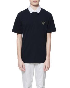 Jersey shield polo shirt