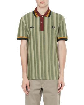 X Nicholas Daley striped polo shirt