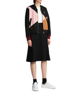 Velour panel track skirt