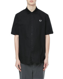 Flat knit collar shirt