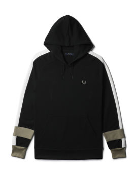 Bold tipped hoodie