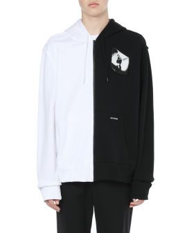 X Raf Simons patched zip hoodie