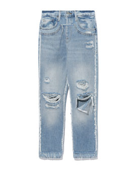 Layered look jeans
