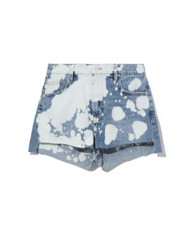 Ultra baggy bleached denim shorts