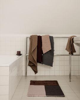 Pile Bathroom Mat - Brown