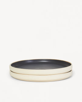 Otto Plate Black Set Large - Two pack