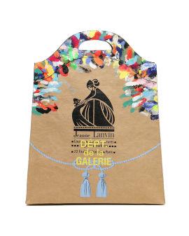X LANVIN logo print paper bag