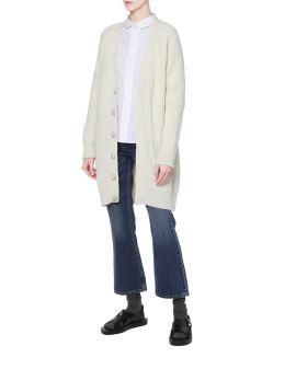 Recycled wool long cardigan