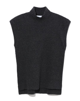 Rib-knit vest