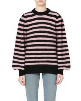 Intarsia knit stripe sweater
