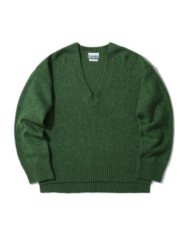 Recycled wool V-neck sweater