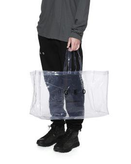 Logo print clear tote bag