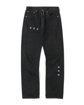Logo print jeans