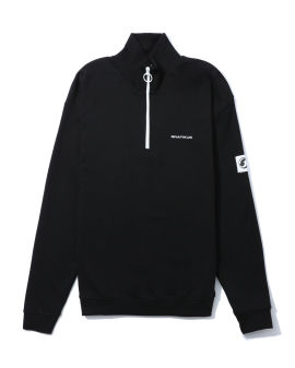 Half-zip logo sweatshirt