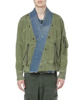 Utility flight kimono jacket