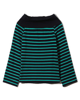 Off shoulder striped sweater